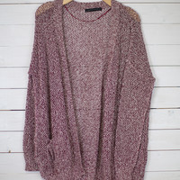 Front Pocket Oversized Cardi