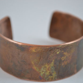 Heat Painted Copper Cuff, Copper Cuff, Copper Bracelet,  Copper Bangle, Copper Jewelry, Artisian Jewelry, Unisex Jewelry, Unisex Bangle