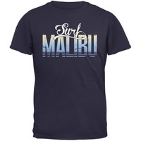 Surf Malibu Navy Adult T-Shirt