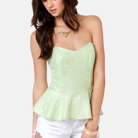 Like a Million Bucks Mint Bustier Top