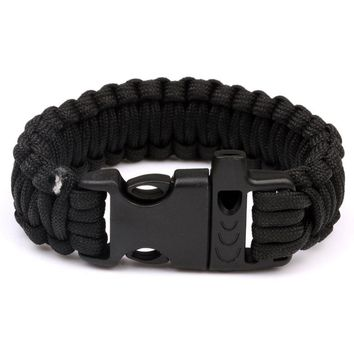 Multifunction 550LB Camping Hiking Survival Paracord Bracelet Emergency Cord Rope Whistle Wristbands Rescue Kits
