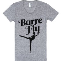 Barre Fly-Female Athletic Grey T-Shirt
