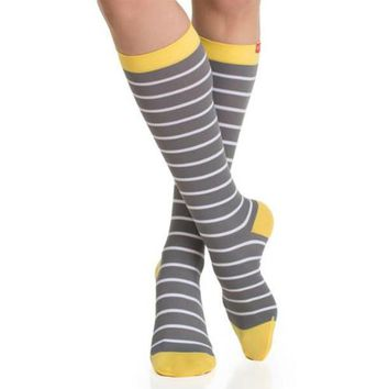 Striped Compression Socks in 20-30 mmHg