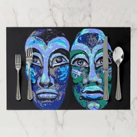 Mayan Warriors - Halloween Design Placemat