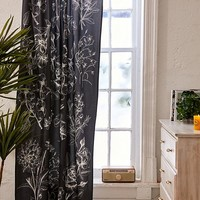 Makenna Etched Floral Blackout Window Curtain | Urban Outfitters
