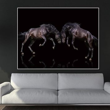 HD Printed Canvas Art Animal Horses Decorative Wall Art Picture Home Decor Modular Paintings For Living Room