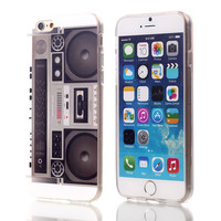 Retro Boom Box TPU Case For Apple iPhone 6 6S