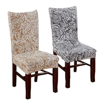 Plum Chair Covers Cheap Jacquard Stretch Chair Covers For Dining Room Decoration Short Half Machine Washable HGTXTBCR015
