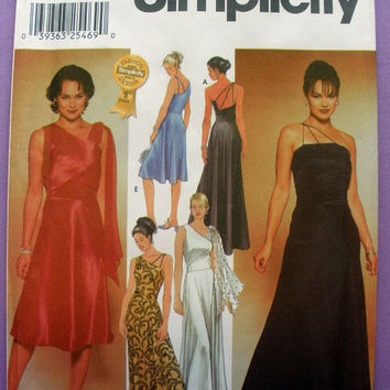 Evening Dress, Cocktail Dress, Formal Wear Misses' Size 12, 14, 16, 18 Simplicity 7006 Sewing Pattern Uncut