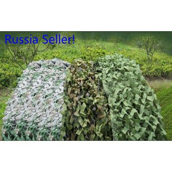 Russia seller!Hunting Military Camouflage Net Woodland Army Camo 5*4m netting Camping Sun ShelterTent Shade sun shelter choose