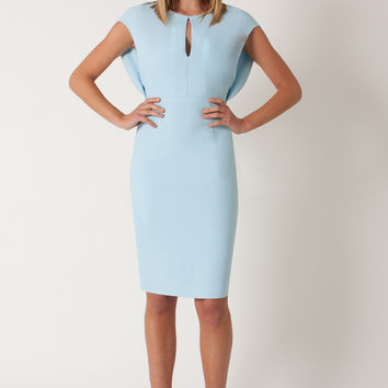 Black Halo Yoomi Dress (Blue) - Size 8 - New With Tags