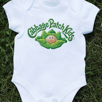 Baby bodysuit cabbage patch kids 1 One Piece Onesuit jersey bib Halloween costume