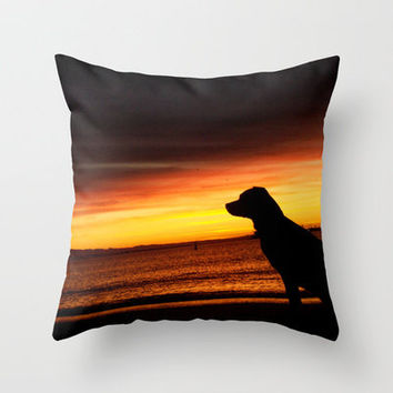 Best Friend Good Mornings Throw Pillow by RichCaspian