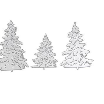 3pcs Christmas Metal Cutting Dies for Stencil Christmas Tree