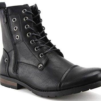 New Men's D-703 Tall Goth Punk Biker Zippered Boots