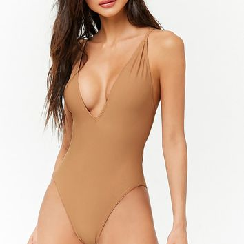 Crisscross Back One-Piece Swimsuit
