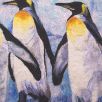 "Felt picture ""Royal penguins"""