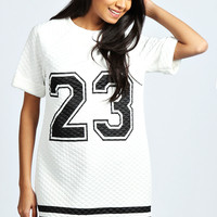 Polly '23' Quilted T Shirt Dress
