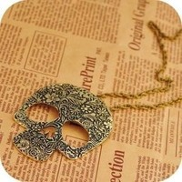 1pcs new arrival Unique design Vintage Skull Pendant Chain Necklace