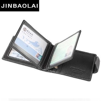 Genuine Leather Credit Card Holder 9 Card Slots Men  Business Card Purse ID Wallets Travel Credit Card Holder Pockets