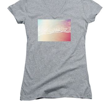 Ocean Air, Salty Hair, Watercolor Art By Adam Asar - Asar Studios - Women's V-Neck (Athletic Fit)