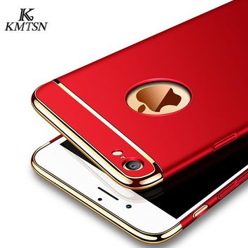 Luxury Ultra Thin Shockproof For iPhone 6 Case For Apple iphone 6s 6 7 plus 3 in 1 Case For iPhone 6 6s Case TPU Phone Shell