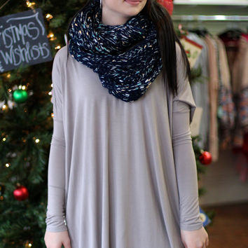 Long Sleeve V-neck Tunic {Light Brown}