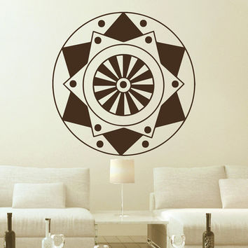 Flower Wall Decals Mandala Corners Om Yoga Pattern Oum Sign Living Room Interior Vinyl Decal Sticker Art Mural Bedroom Kids Room Decor MR364