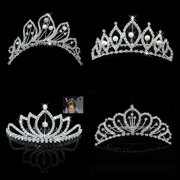 Wedding Hair Accessories Bridal Crown Tiara Jewelry Cosplay Renaissance Festival Pearl