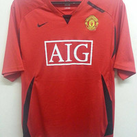 Sale Rare MANCHESTER United Nike Aig Home Football Shirts