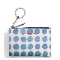 BLEECKER MINI SKINNY IN PAINTED DOT COATED CANVAS