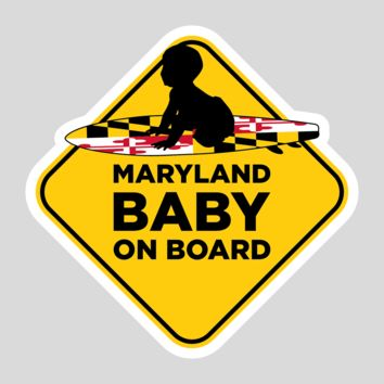 Maryland Baby On Board / Sticker