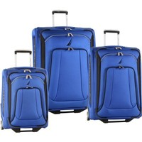 Nautica Luggage Charter Classic 3 Piece Set, Cobalt Blue/Black, One Size
