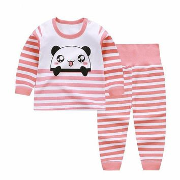 Newborn Winter Clothes Cute Panda Printed Girl T-shirt Set Casual Children Clothes Boys Winter Clothes For Kids Girls Clothing