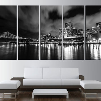 Golden Gate Bridge wall art canvas print, San Francisco California canvas wall Art, black and white wall art extra large wall art t491