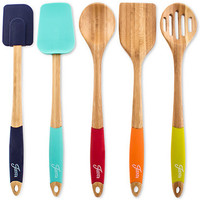 Fiesta Bamboo & Silicone 5-Pc. Mixing & Serving Utensils | macys.com