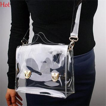 Shoulder Bags Outdoor PVC Transparent Box Waterproof Clear Phone