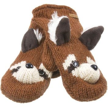 PEAPGQ9 Rico The Raccoon Knit Mittens