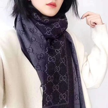 """""""Gucci""""Women Casual Fashion Classic Comfortable Double Printing Sided Scarf"""