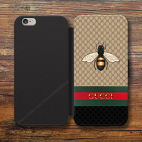 Rere! Gucci768X Bee Wallet iPhone 8/7/6S Plus 5S Samsung S9 S8 S7 S6 Note Cases