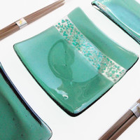 Bridal Shower Gift - Fused Glass - Glass Plates