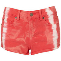 MOTO Tie Dye Red Hotpants