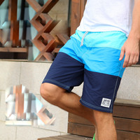 men's swimwear boardshorts board shorts male bermuda Quick dry 100% cotton sports beach wear swimming trunks GYM running shorts