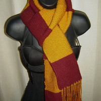 Harry Potter Gryffindor Scarf Red and Gold with by Treasurefest