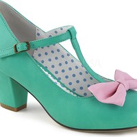 WIGGLE-50 | Teal-Pink Faux Leather [PREORDER]