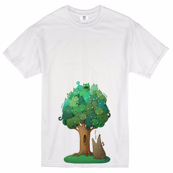Novelty Designer Men Stretchable Male Tree Skull Not Dead Printed T-Shirt Fashion Popular Cool Summer Top Tees