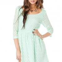 Daisy Lace Sundress in Mint - ShopSosie.com