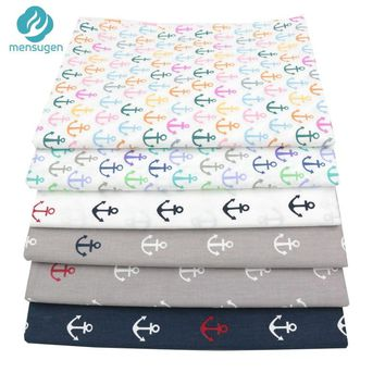 Mensugen Half A Meter Anchor Cartoon Cotton Fabric for Quilting Sewing Baby Bedding Sheet Pillows Cover blanket Sewing Material