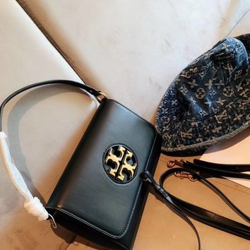 TORY BURCH Women Fashion Leather Satchel Crossbody Shoulder Bag