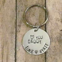 Dad Key Chain - Birthday Gift - Personalized with Children's Names